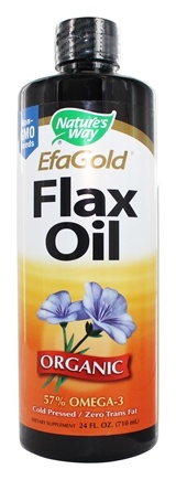 Nature's Way - Organic Liquid Flax Oil EFA Gold - 24 oz.