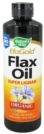 DROPPED: Nature's Way - Organic Liquid Flax Oil  Super Lignan - 16 oz. CLEARANCE PRICED