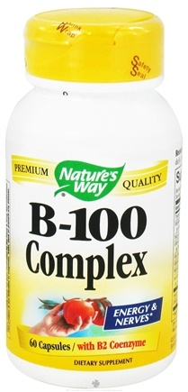 DROPPED: Nature's Way - Vitamin B-100 Complex with B2 Coenzyme - 60 Capsules