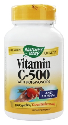 Nature's Way - Vitamin C 500 with Bioflavonoids - 100 Capsules