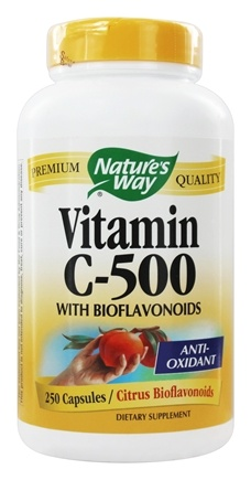 Nature's Way - Vitamin C 500-Bioflavonoids - 250 Capsules