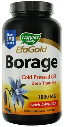 DROPPED: Nature's Way - Borage Oil CLEARANCE PRICED 1000 mg. - 120 Softgels
