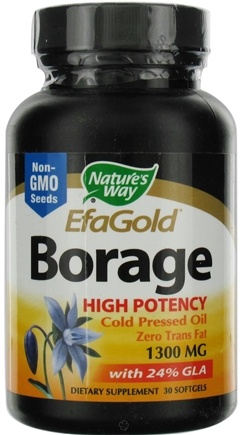 DROPPED: Nature's Way - Borage Oil (High Potency) CLEARANCE PRICED 1300 mg. - 30 Softgels