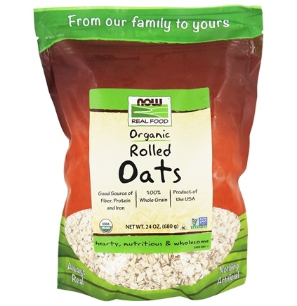 DROPPED: NOW Foods - Rolled Oats - 24 oz. CLEARANCE PRICED