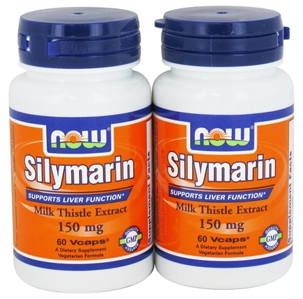 DROPPED: NOW Foods - Silymarin Milk Thistle Extract (60+60) Twin Pack Special 150 mg. - 120 Vegetarian Capsules