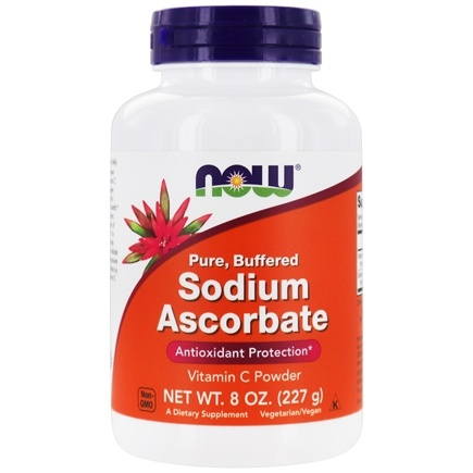 NOW Foods - 100% Pure Buffered Sodium Ascorbate - 8 oz.