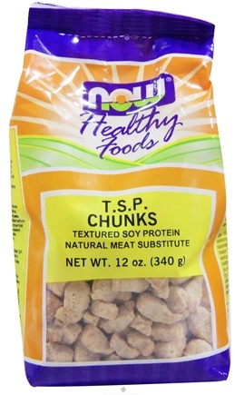 DROPPED: NOW Foods - TSP Chunks Textured Soy Protein Chunks - 12 oz.