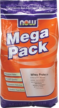 DROPPED: NOW Foods - Whey Protein Mega Pack Strawberry Flavor - 10 lbs.