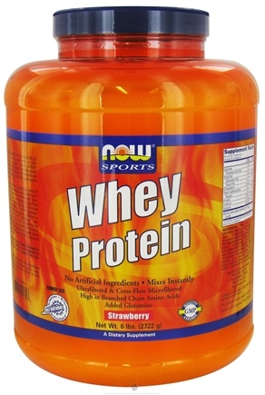 DROPPED: NOW Foods - Whey Protein Strawberry - 6 lbs.
