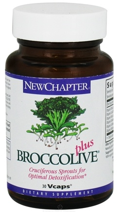 DROPPED: New Chapter - Broccolive Plus - 30 Vegetarian Capsules