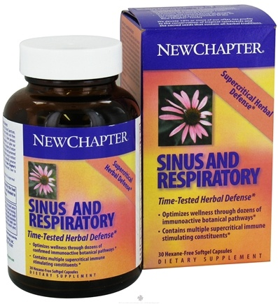 DROPPED: New Chapter - Sinus & Respiratory - 30 Softgels