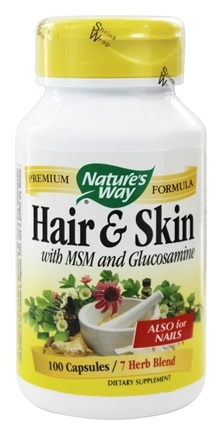 Nature's Way - Hair and Skin Formula with MSM and Glucosamine  599 mg. - 100 Capsules