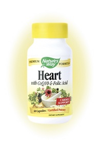 DROPPED: Nature's Way - Heart (with CoQ10 & Folic Acid) 529 mg. - 60 Capsules