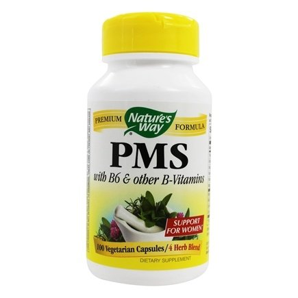 Nature's Way - PMS Vitamin B6 & 5 HTP 418 mg. - 100 Capsules
