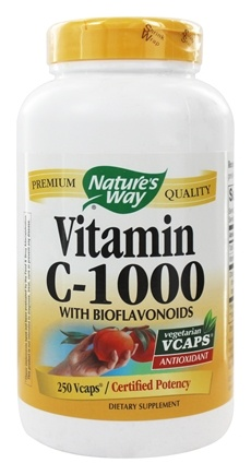 Nature's Way - Vitamin C-1000 with Bioflavonoids - 250 Vegetarian Capsules