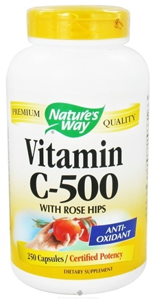 DROPPED: Nature's Way - Vitamin C-500 with Rose Hips - 250 Capsules