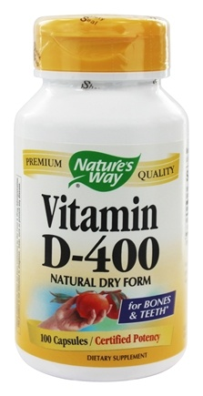 Nature's Way - Vitamin D-400- Natural Dry Form - 100 Capsules