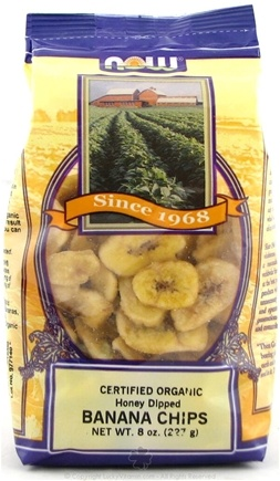 DROPPED: NOW Foods - Organic Honey Dipped Banana Chips - 8 oz.
