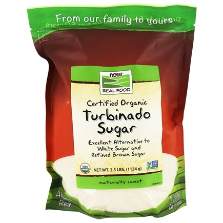 NOW Foods - Turbinado Sugar Organic - 2.5 lbs.