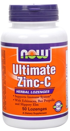 DROPPED: NOW Foods - Ultimate Zinc-C - 50 Lozenges CLEARANCE PRICED