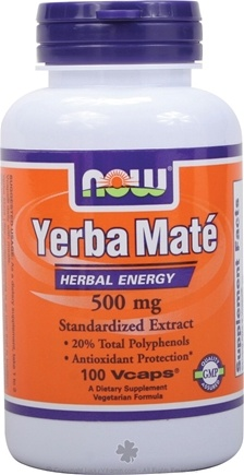 DROPPED: NOW Foods - Yerba Mate 500 mg. - 100 Vegetarian Capsules