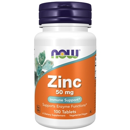 NOW Foods - Zinc 50 mg. - 100 Tablets