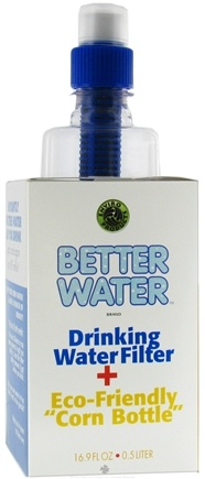 DROPPED: New Wave Enviro Products - Better Water Drinking Water Filter with Corn-Based Bottle - 16.9 oz. CLEARANCE PRICED