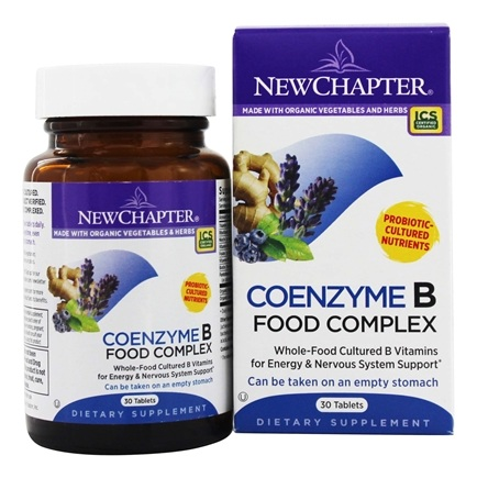 New Chapter - Coenzyme B Food Complex - 30 Tablets
