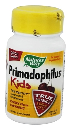 Nature's Way - Primadophilus Kids Cherry - 30 Chewable Tablets