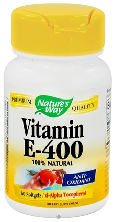 DROPPED: Nature's Way - Vitamin E-400 - 60 Softgels CLEARANCE PRICED