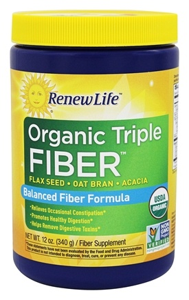 ReNew Life - Organic Triple Fiber - 12 oz. contains Acacia Fiber Powder
