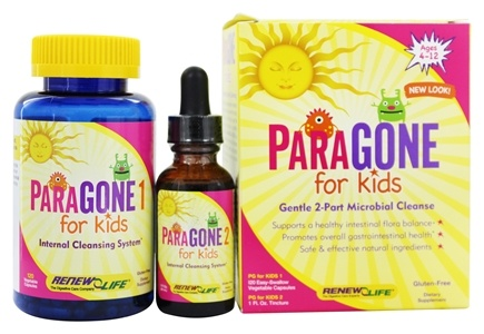 ReNew Life - ParaGONE for Kids I and II 2 Part Internal Cleansing System - 120 Vegetarian Capsules