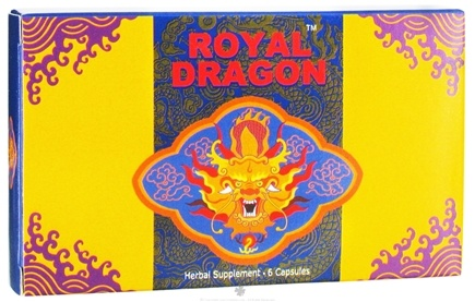 DROPPED: Royal Dragon - The Super Sexual Herbal Pill 1000 mg. - 6 Capsules CLEARANCE PRICED
