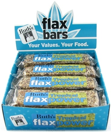 DROPPED: Ruth's Hemp Foods - Flax Power Bar Tropical Flavor - 1.5 oz.