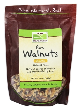 NOW Foods - Walnuts, Halves & Pieces, Raw - 12 oz.