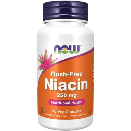 NOW Foods - Niacin Flush Free 250 mg. - 90 Vegetarian Capsules