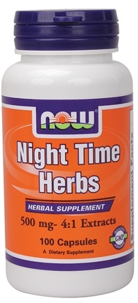 DROPPED: NOW Foods - Nighttime Herbs 500 mg. - 100 Capsules