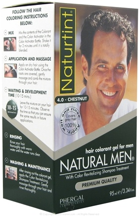DROPPED: Naturtint - Natural Men Colorant Gel (4.0) Chestnut - 4.5 oz.