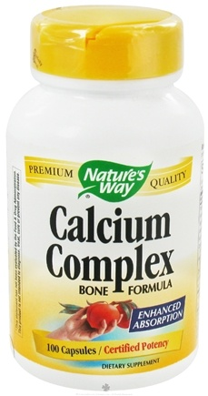 DROPPED: Nature's Way - Calcium Complex Bone Formula - 100 Capsules CLEARANCED PRICED