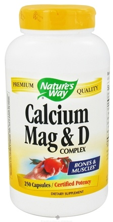 Nature's Way - Calcium-Magnesium-Vitamin D - 250 Capsules