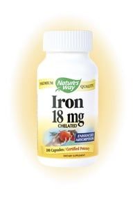 DROPPED: Nature's Way - Iron- Certified Potency - 100 Capsules