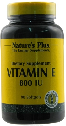 DROPPED: Nature's Plus - Vitamin E Softgel 800 IU - 90 Softgels