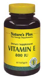 DROPPED: Nature's Plus - Vitamin E 800 IU - 60 Softgels