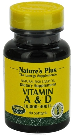DROPPED: Nature's Plus - Vitamins A & D 10000/400 IU - 90 Softgels