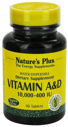 DROPPED: Nature's Plus - Vitamins A & D 10000/400 IU Water Dispersible - 90 Tablets