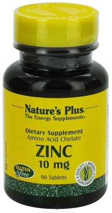 Nature's Plus - Zinc 10 mg. - 90 Tablets