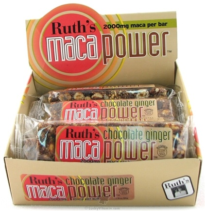 DROPPED: Ruth's Hemp Foods - Maca Power Bar Chocolate Ginger Flavor - 1.6 oz.