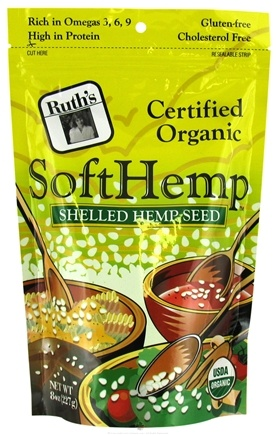 DROPPED: Ruth's Hemp Foods - SoftHemp Organic Shelled Hemp Seed - 8 oz.