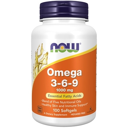 NOW Foods - Omega 3-6-9 1000 mg. - 100 Gelcaps
