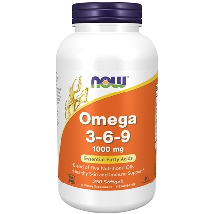 NOW Foods - Omega 3-6-9 1000 mg. - 250 Softgels